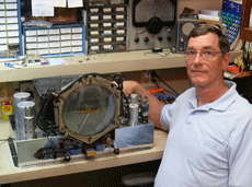 Proprietor Mark Miner with a Zenith Stratosphere chassis